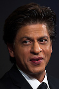 """Shah Rukh Khan, Actor, Red Chillies Entertainment, India speaking during the Session """"An Insight, An Idea with Shah Rukh Khan"""" at the Annual Meeting 2018 of the World Economic Forum in Davos, January 23, 2018.<br /> Copyright by World Economic Forum / Greg Beadle Portraits captured by Greg Beadle in studio and on location"""