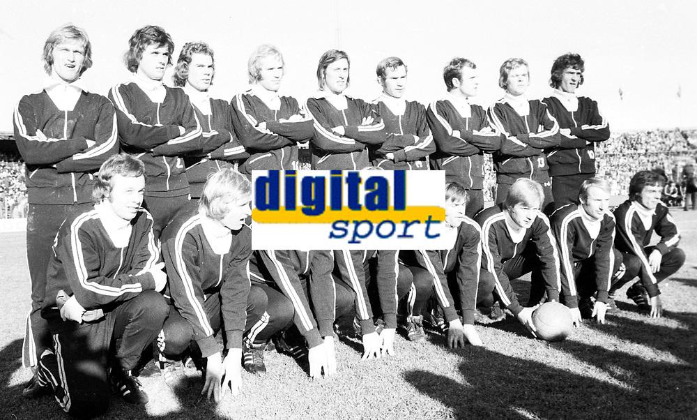 Fotball <br /> Cupfinale 1973<br /> Rosenborg v Str&oslash;msgodset<br /> Ullevaal stadion <br /> Foto: Digitalsport <br /> Lagbilde SIF
