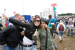 Fans before the opening at T in the Park Friday 11 July 2008..T in the Park 2008 festival took place on the Friday 10th July, Saturday 11th July and Sunday 12th July, at Balado, near Kinross in Perth and Kinross, Scotland..Pic ©Michael Schofield. All Rights Reserved..