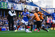 Portsmouth's Kyle Bennett attacking during the Sky Bet League 2 match between Portsmouth and Barnet at Fratton Park, Portsmouth, England on 12 September 2015. Photo by David Charbit.