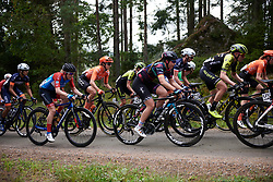 Lisa Klein (GER) on the first gravel sector during Postnord UCI WWT Vårgårda WestSweden Road Race, a 145.3 km road race in Vårgårda, Sweden on August 18, 2019. Photo by Sean Robinson/velofocus.com