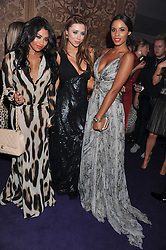 Left to right, VANESSA WHITE, UNA HEALY and ROCHELLE WISEMANat a party hosted by Roberto Cavalli to celebrate his new Boutique's opening at 22 Sloane Street, London followed by a party at Battersea Power Station, London SW8 on 17th September 2011.