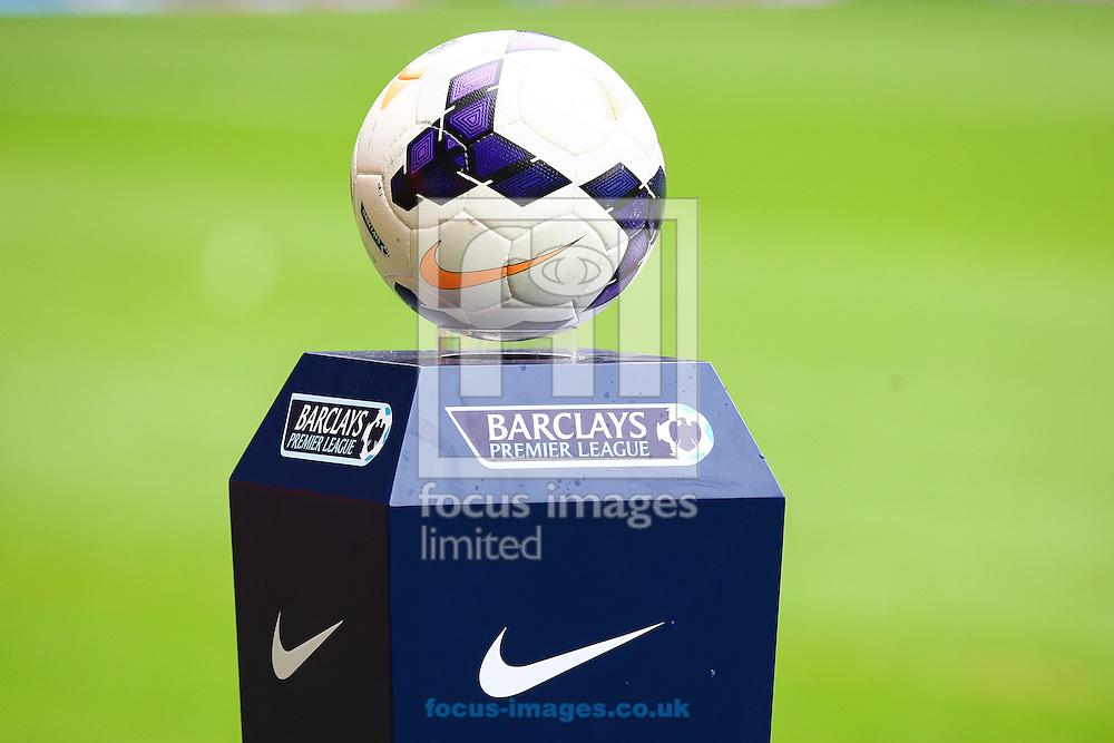 Picture by Daniel Chesterton/Focus Images Ltd +44 7966 018899<br /> 21/09/2013<br /> The Nike Premier League match ball on display before the Barclays Premier League match at the Boleyn Ground, London.