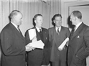 Annual Congress at Gresham Hotel in Dublin on Easter .Sunday...05.04.1953  5th April 1953