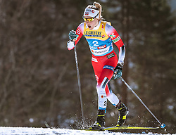 23.02.2019, Langlauf Arena, Seefeld, AUT, FIS Weltmeisterschaften Ski Nordisch, Seefeld 2019, Skiathlon, Damen, 15km, im Bild Therese Johaug (NOR) // Therese Johaug of Norway during the ladie's ladie's 15km Skiathlon competition of the FIS Nordic Ski World Championships 2019. Langlauf Arena in Seefeld, Austria on 2019/02/23. EXPA Pictures © 2019, PhotoCredit: EXPA/ Stefan Adelsberger