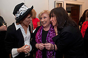 WENDY PERRIAN; FAY WELDON; WENDY LOUISE BARDSLEY, Fay Weldon, book launch for  Chalcot Crescent.<br /> The Arts Club, 40 Dover Street, London W1, 6.30-8.30pm<br /> Fay Weldon