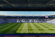 General view of the King Power Stadium supporting the poppy appeal during the Premier League match between Leicester City and Everton at the King Power Stadium, Leicester, England on 29 October 2017. Photo by Jon Hobley.