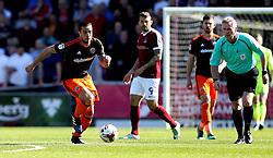 Samir Carruthers of Sheffield United runs with the ball - Mandatory by-line: Robbie Stephenson/JMP - 08/04/2017 - FOOTBALL - Sixfields Stadium - Northampton, England - Northampton Town v Sheffield United - Sky Bet League One