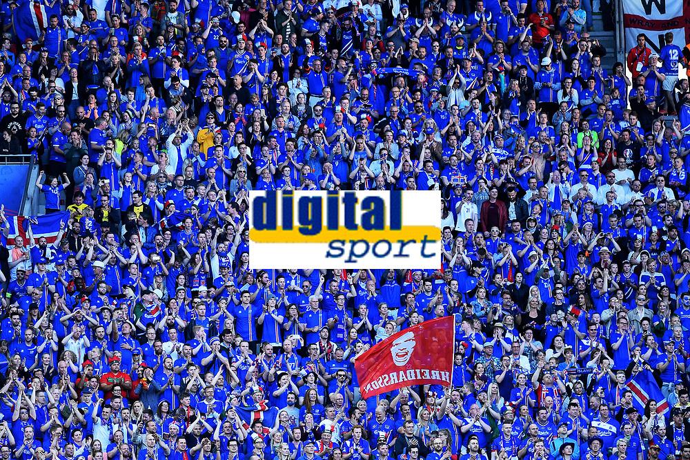 Tifosi Islanda Iceland Supporters <br /> Saint-Etienne 14-06-2016 Stadium Geoffroy-Guichard Football Euro2016 Portugal-Iceland / Portogallo-Islanda Group Stage Group F<br /> Foto Massimo Insabato / Insidefoto