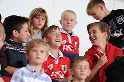 Young Bristol City fans laugh  - Mandatory byline: Dougie Allward/JMP - 07966 386802 - 03/10/2015 - FOOTBALL - Ashton Gate - Bristol, England - Bristol City v MK Dons - Sky Bet Championship