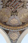 Kuppelmosaik an der Ausstellungshalle, Mathildenhöhe, Jugendstil, Darmstadt, Hessen, Deutschland | mosaic, Centre of Art Noveau on Mathildenhoehe, Darmstadt, Germany
