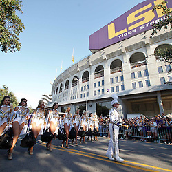 September 10, 2011; Baton Rouge, LA, USA;  The LSU Tigers band performs outside prior to kickoff of a game against the Northwestern State Demons at Tiger Stadium.  LSU defeated Northwestern State 49-3. Mandatory Credit: Derick E. Hingle-US PRESSWIRE