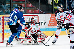 02.11.2012, Hostan Arena, Znojmo, CZE, EBEL, HC Orli Znojmo vs SAPA Fehervar, 18. Runde, im Bild Andras Hovath (Fehérvár #4) Ondrej Kacetl (Znojmo #90) // during the Erste Bank Icehockey League 18nd round match betweeen HC Orli Znojmo and SAPA Fehervar at the Hostan Arena, Znojmo, Czech Republic on 2012/11/02. EXPA Pictures © 2012, PhotoCredit: EXPA/ Rostislav Pfeffer