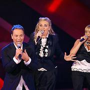 NLD/Hilversum/20061230 - 1e Live uitzending X-Factor 2006, deelnemers Hearts