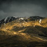Light play over Kintail, Scotland
