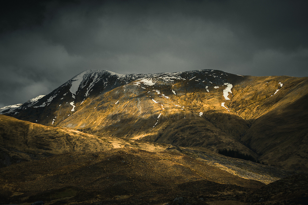 Light play over Kintail, Scotland