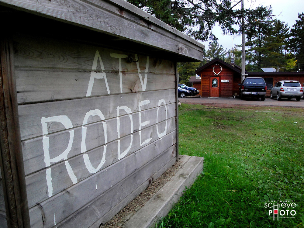 ATV Rodeo at the Elkhorn restaurant in Clam Lake, Wisconsin.