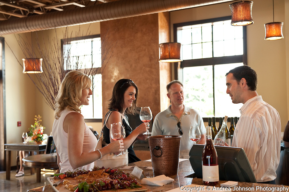 Wine tasting at Press wine bar, Inn at Red Hills, Dundee, Willamette Valley, Oregon