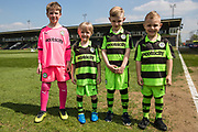Todays match day mascots during the EFL Sky Bet League 2 match between Forest Green Rovers and Grimsby Town FC at the New Lawn, Forest Green, United Kingdom on 5 May 2018. Picture by Shane Healey.