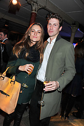 BEATRICE BARLOW and HUGO DALTON at a party to celebrate the launch of the new Vertu Constellation phone - the luxury phonemakers first touchscreen handset, held at the Farmiloe Building, St.John Street, Clarkenwell, London on 24th November 2011.
