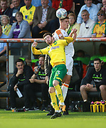 Norwich City's James Husband and Hull City's Josh Clackstone during the EFL Sky Bet Championship match between Norwich City and Hull City at Carrow Road, Norwich, England on 14 October 2017. Photo by John Marsh.
