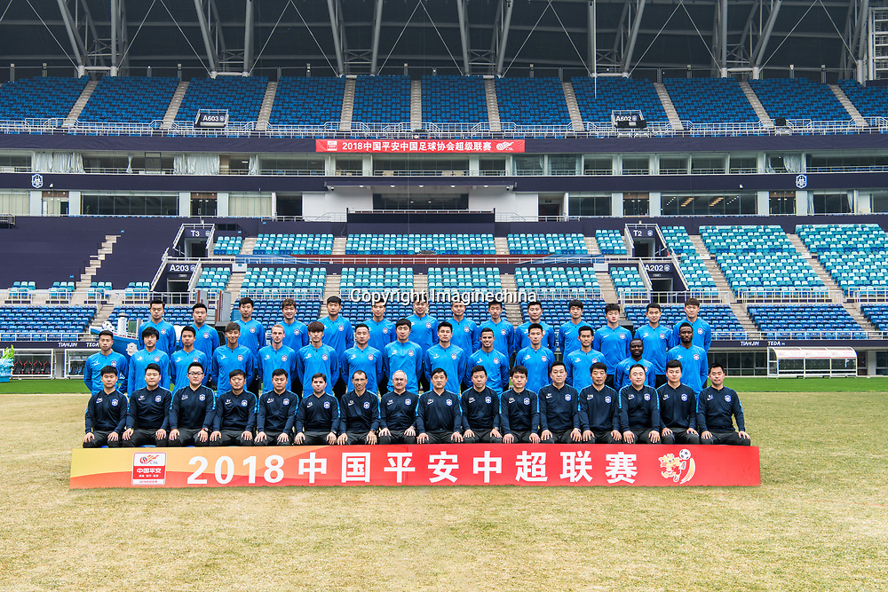 **EXCLUSIVE**Group shot of players of Tianjin TEDA F.C. for the 2018 Chinese Football Association Super League, in Tianjin, China, 28 February 2018.