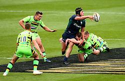 Josh Basham of London Irish is tackled - Mandatory by-line: Robbie Stephenson/JMP - 29/07/2017 - RUGBY - Franklin's Gardens - Northampton, England - Northampton v London Irish - Singha Premiership Rugby 7s