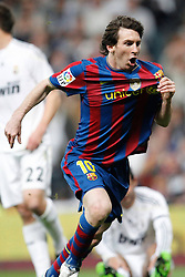 10-04-2010 VOETBAL: REAL MADRID - BARCELONA: MADRID<br /> Lionel Messi scoort<br /> ©2010- FRH nph / ALFAQUI