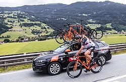 11.07.2019, Kitzbühel, AUT, Ö-Tour, Österreich Radrundfahrt, 5. Etappe, von Radstadt nach Fuscher Törl (103,5 km), im Bild Patrick Gamper (Tirol KTM Cycling Team, AUT) // Patrick Gamper (Tirol KTM Cycling Team, AUT) during 5th stage from Bruck an der Glocknerstraße to Kitzbühel (161,9 km) of the 2019 Tour of Austria. Kitzbühel, Austria on 2019/07/11. EXPA Pictures © 2019, PhotoCredit: EXPA/ JFK