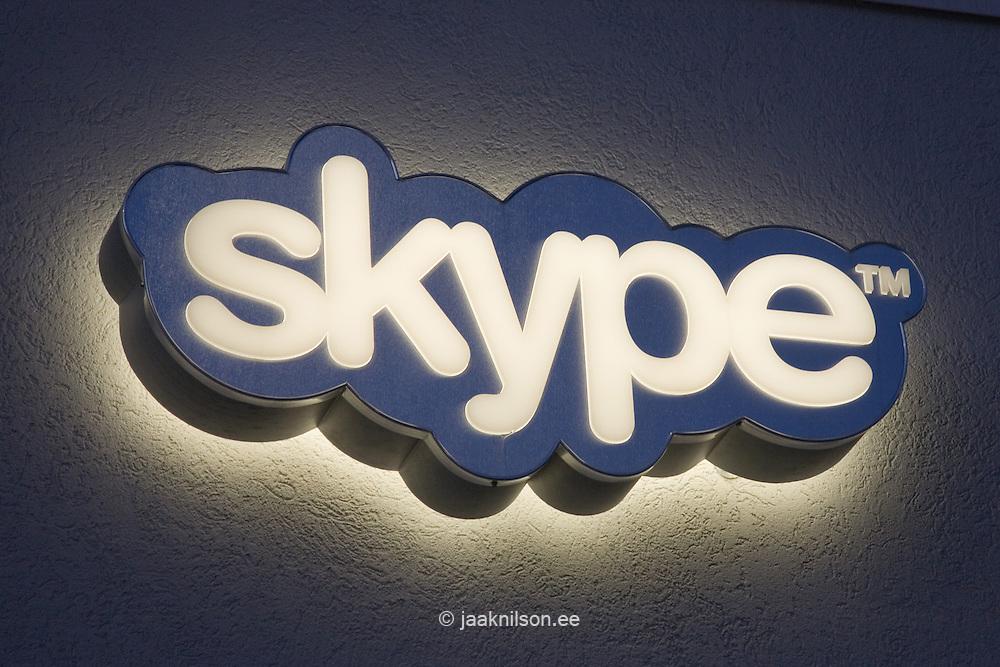 Skype Logo in Tallinn, Estonia