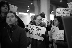 Philadelphia Protests at the Philadelphia Airport in response to Muslim Ban on January 29, 2017.