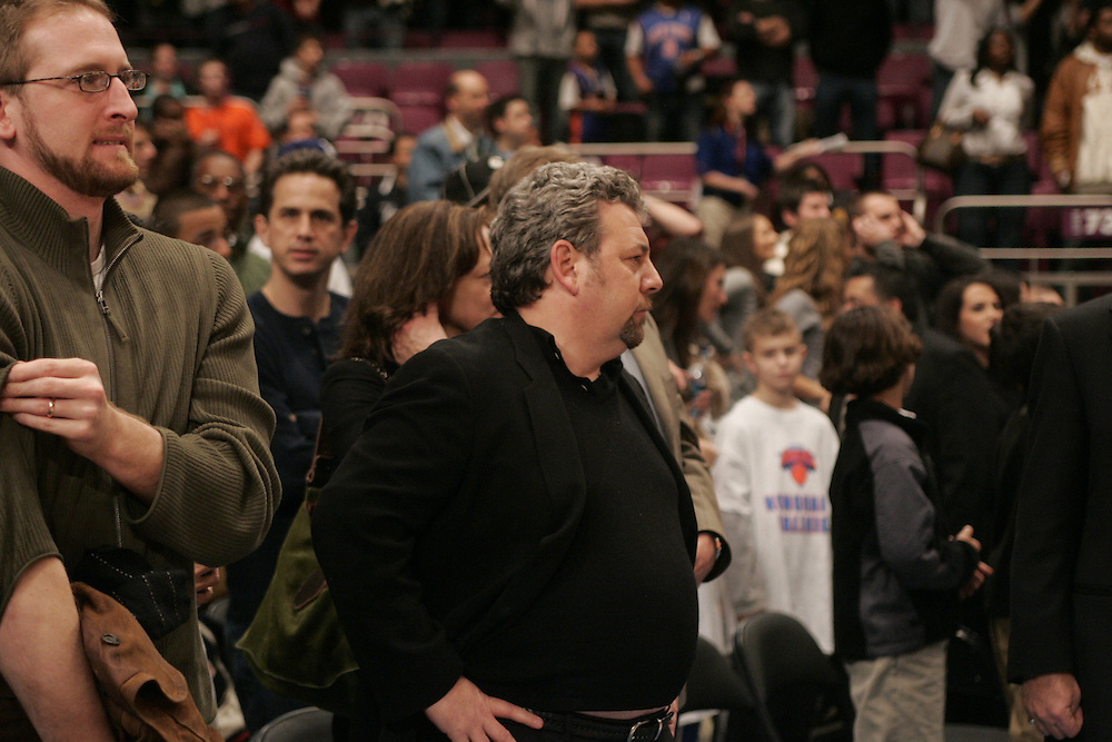 James Dolan owner of the New York Knicks against the Denver Nuggets at Madison Square Garden, New York on Saturday  16 December 2006. (Andrew Gombert for The New York TImes)