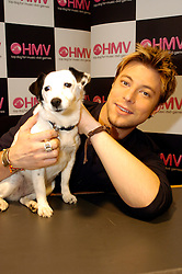 Duncan James formerly of Blue at Doncaster Frenchgate Centre opens the new HMV store and Signs copies of his latest Solo single since Blue split..8 June 2006.Copyright Paul David Drabble