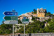 ROad signs in southern France