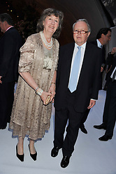 Left to right, The EARL & COUNTESS DE LA WARR at a dinner hosted by Cartier following the following the opening of the Chelsea Flower Show 2012 held at Battersea Power Station, London on 21st May 2012.