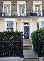 © Licensed to London News Pictures. 11/04/2020. London, UK. The London residence of Conservative Secretary of State for Housing, Communities and Local Government, Robert Jenrick, who has been accused of breaking COVID-19 lockdown rules when he visited his family.  Photo credit: Ben Cawthra/LNP
