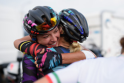 Barbara Guarischi celebrates the team win at the 116 km Stage 5 of the Boels Ladies Tour 2016 on 3rd September 2016 in Tiel, Netherlands. (Photo by Sean Robinson/Velofocus).