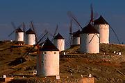 SPAIN, LA MANCHA traditional windmills near Toledo