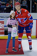 KELOWNA, CANADA - MARCH 03:  First Star of the Game Hudson Elynuik #26 of the Spokane Chiefs at the Kelowna Rockets game on March 03, 2018 at Prospera Place in Kelowna, British Columbia, Canada.  (Photo By Cindy Rogers/Nyasa Photography,  *** Local Caption ***