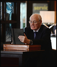 SEP 18 2013 Sir Menzies Campbell on his iPad