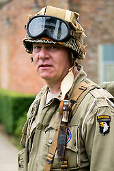 "Rufford Abbey 1940's Weekend <br /> Reenactor Portrait Paratrooper from the 101st  Airborne ""Screaming Eagles""<br /> <br />  30 September 2017 <br />   Copyright Paul David Drabble<br />   www.pauldaviddrabble.co.uk"