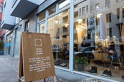 Exterior of 1213bst shop in Mitte Berlin, Germany