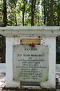 Grave of Ehelapola Wijesoondra Wieckramasingha Chandrasekra Amarakoon Wahala Nodianse. Late first Adikar or Prime Minister to the King of Kandy. Died 4th April 1829, aged 67 years. St Andre Forest near Powder Mill.