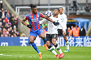Crystal Palace Midfielder Wilfried Zaha (11) and Liverpool Midfielder Goerginio Wijnaldum (5) battle for the ball during the Premier League match between Crystal Palace and Liverpool at Selhurst Park, London, England on 31 March 2018. Picture by Stephen Wright.