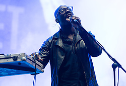 © Licensed to London News Pictures. 30/08/2015. Reading, UK. Ghostpoet performing at Reading Festival 2015, Day 3 Sunday.  In this picture - Obaro Ejimiwe.  Photo credit: Richard Isaac/LNP