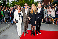 ZEIST - Prince Bernard with princess Annette and Isabella and samuel Prof. dr. mr. Pieter van Vollenhoven arrives with princess Margriet for the celebration of his 80th birthday in theater Figi. copyrught robin utrecht
