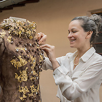 Bernachon's Chocolate dress for thr 20th Parisian Chocolate Trade Show