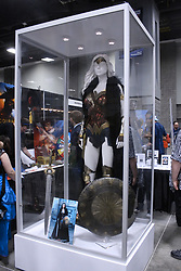 June 16, 2017 - Washington, DC, U.S - On display at Awesome Con at one of the booths in the Exhibitor and Artist Alley is what was being described as one of the actual Wonder Woman costumes that was worn by Gal Gadot while filming the movie. (Credit Image: © Evan Golub via ZUMA Wire)