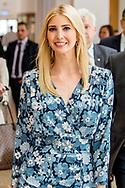BERLIJN - Koningin Maxima neemt deel aan een paneldiscussie over de economische positie van vrouwen tijdens de Women20 Summit van de G20. Behalve Maxima praatten ook Ivanka Trump, de dochter van de Amerikaanse president, de Duitse Bondskanselier Angela Merkel en Christine Lagarde, directeur van het IMF, mee. ANP ROYAL IMAGES ROBIN UTRECHT **NETHERLANDS ONLY**<br /> Juliana Rotich, co-founder of Ushahidi open-source software - Anne Finucane, vice-president of the Bank of America - Ivanka Trump, First Daughter and Advisor to the President, Chrystia Freeland, Minister of Foreign affairs of Canada - Angela Merkel, Chancellor of Germany - Queen Maxima of The Netherlands, UN special advocate for Inclusive Finance and Development - Mona Kuppers, W20 Germany Co-Chair - Manuela Schwesig, Federal Minister of Family Affairs - Christine Lagarde, Director of the International Monetary Fund and Nicola Leibinger-Kammüller, chairwoman of Technology concert Trumpf<br /> <br /> <br /> 25-4-2017 BERLIJN - Queen Maxima and Ivanka Trump participate in Berlin on April 25th in the panel discussion 'Inspiring Women: Scaling Up Women's Entrepreneurship'. The panel discussion is part of the G20's Women20 Summit held in the German capital from 24 to 26 April. Germany is currently president of the G20. Queen Máxima is Special Advocate-General of the United Nations Secretary-General for Inclusive Funding for Development and Honorary President of the Global Partnership for Global Inclusion (GFI) Global Partnership for Financial Inclusion (GPFI). Juliana Rotich, co-founder of Ushahidi open-source software - Anne Finucane, vice-president of the Bank of America - Ivanka Trump, First Daughter and Advisor to the President, Chrystia Freeland, Minister of Foreign affairs of Canada - Angela Merkel, Chancellor of Germany - Queen Maxima of The Netherlands, UN special advocate for Inclusive Finance and Development - Mona Kuppers, W20 Germany Co-Chair - Manuela Schwesig, Federal Minister of Family Affairs -