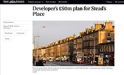 The Times; Leith Walk in Edinburgh